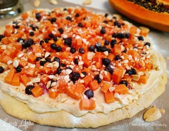 Быстрый тарт с папайей и черникой