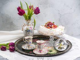 Торт «Павлова» с малиновым курдом