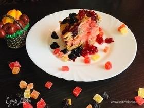Бисквит на простокваше «Розовое настроение»