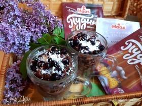 Крем-пудинг с ягодами