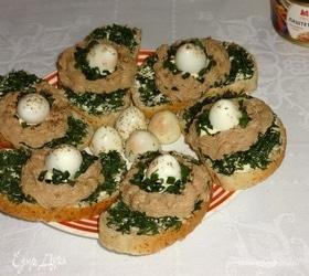 Бутерброды «Гнездышки»