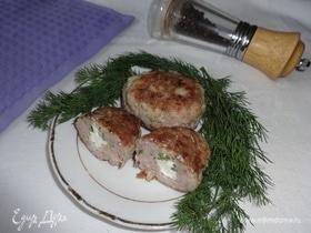 Котлеты с плавленым сыром и кинзой