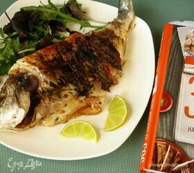 Маринованная рыба на гриле