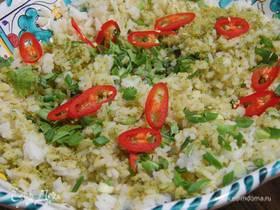 Зеленый рис по-азиатски