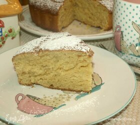 Лимонно-медовый пирог с имбирными цукатами