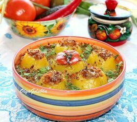 Картофель, фаршированный гречневой кашей