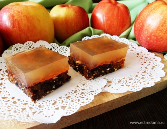 Пирожные с яблочным мармеладом