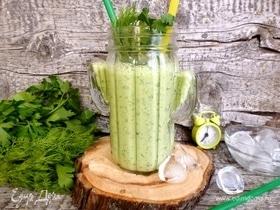 Освежающий напиток из варенца с зеленью