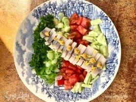 Салат по-норвежски с сельдью