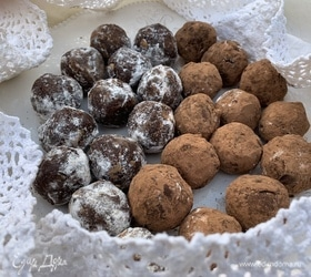 Шоколадные трюфельные шарики из печенья