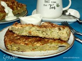 Рваный пирог с кабачками и сыром