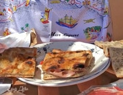Бутерброд «Портофино» с мортаделлой и соусом песто