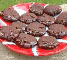 Печенье с шоколадными бобами