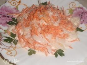 Морковно-луковый салат
