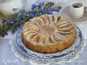 Прованский яблочный пирог с грецкими орехами