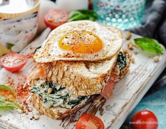 Сытный утренний сэндвич