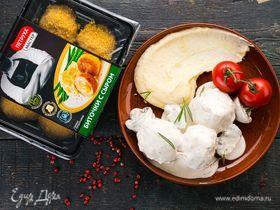 Биточки с сыром, запеченные в сливочном соусе