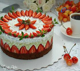 Муссовый торт «Фисташка-клубника»