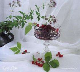 Сорбет с гибискусом и ягодами