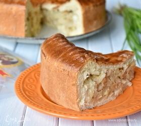 Рыбный пирог с капустой