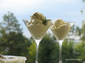 Мороженое на белках с курдом