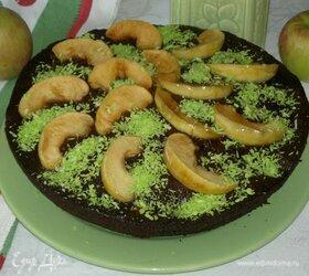 Шоколадно-яблочный пирог