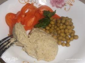 Котлеты из горбуши с брокколи и кабачком