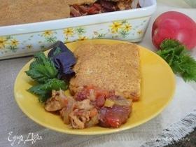 Баскский пирог с курицей и чоризо