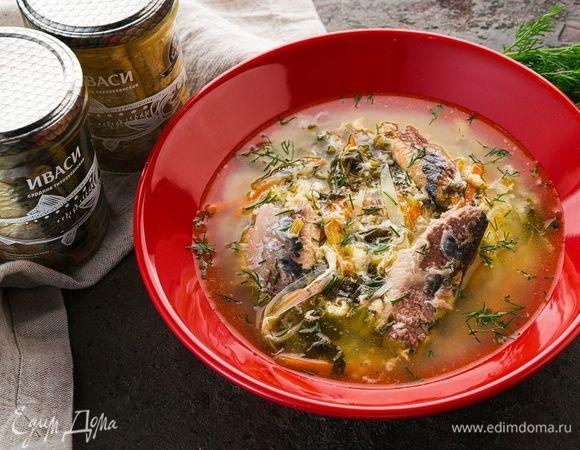 Щавелевый суп с консервированной иваси