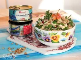 Рыбный салат с семечками