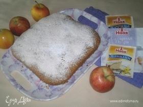 Пирог с яблоками, кокосом и шоколадом