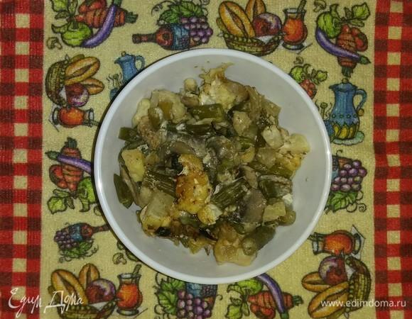Запеченные овощи под сырной корочкой