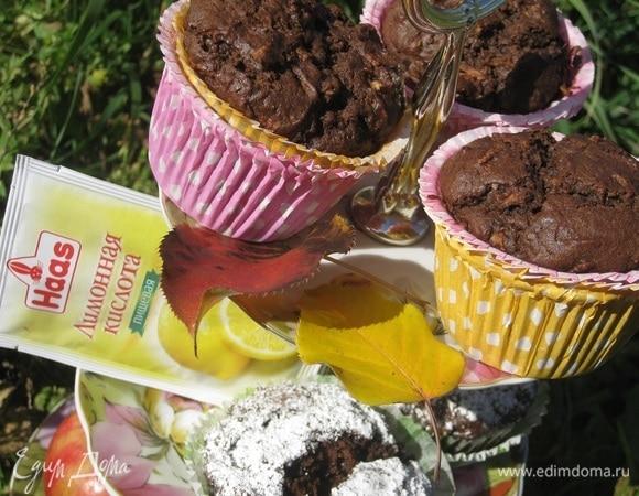 Яблочно-шоколадные маффины