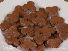 Легкое шоколадно-белковое печенье
