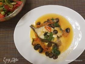 Рыбные стейки с лимонным соусом