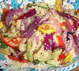 Кускус с запеченными овощами