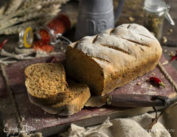 Хлеб из цельнозерновой муки на молоке