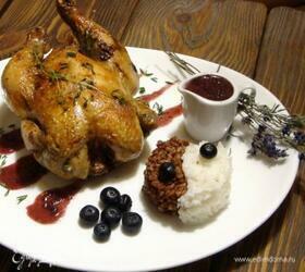 Цыпленок de Provence с ягодным соусом