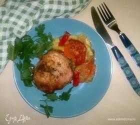 Куриные бедрышки с овощами