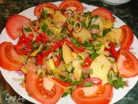 Зимний салат с айвой