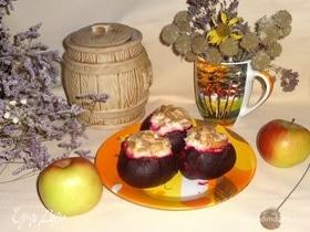 Свекла с творогом и яблоками