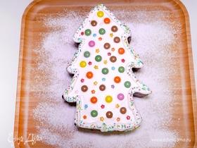 Новогодний торт «Елочка» с ореховым ароматом