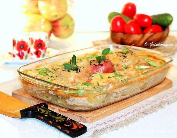 Картофель с беконом в медово-горчичном соусе