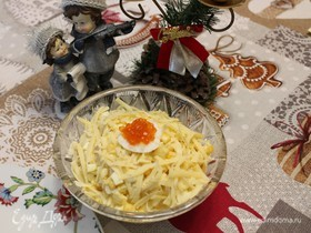 Салат «Праздничный» с кальмарами