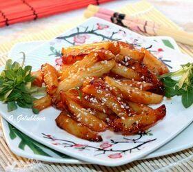 Медовый картофель с перцем чили