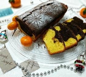 Мандариново-шоколадный кекс
