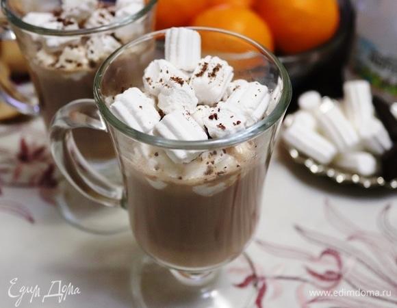Какао с маршмеллоу и шоколадом