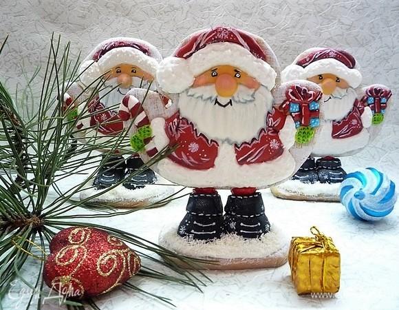 Пряник-статуэтка «Дед Мороз»