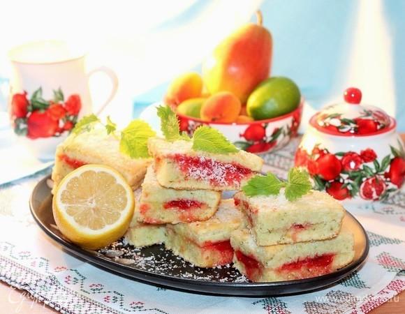 Лимонные пирожные с мятным ароматом