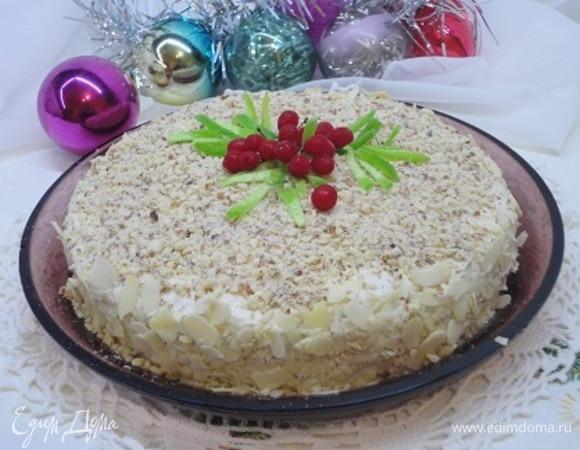 Песочный торт с миндальным кремом